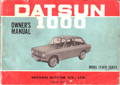 Datsun 1000 Owner's Manual B10 VB10 1966