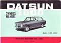 Datsun 1000 Owner's Manual B10 VB10 1969