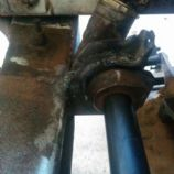 fixed steering rack bracket welded in place