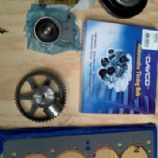 Custom head gasket, crank pulley and adjusters